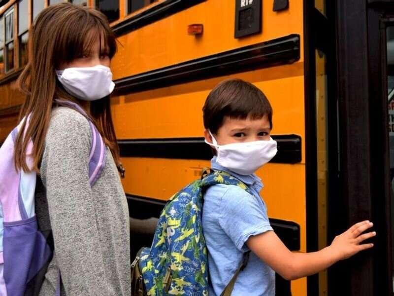 Veido kaukės gali sukelti didesnį anglies dioksido kiekį vaikams