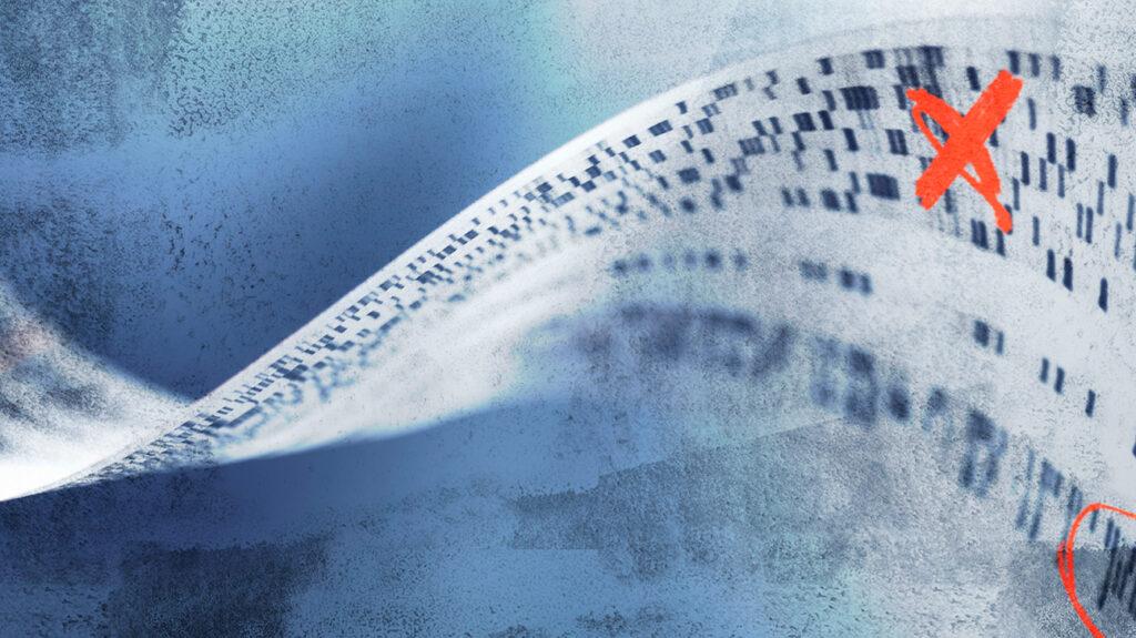 Imprimați informațiile ADN cu o cruce roșie pe