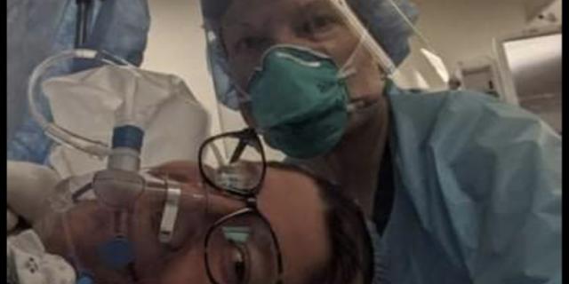 Amanda Heim a spus că era însărcinată în opt luni când a prins COVID-19 și a ajuns să aibă o secție C de urgență.