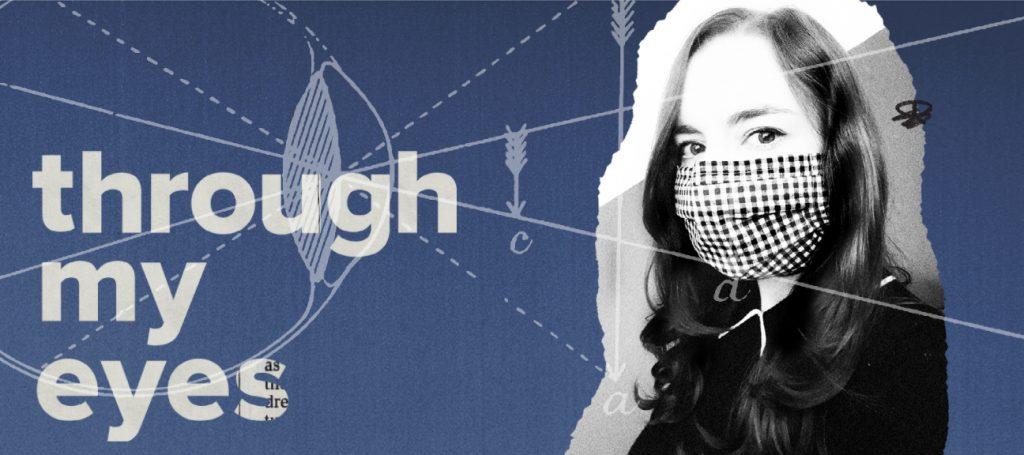 ilustracja kobiety noszącej maskę
