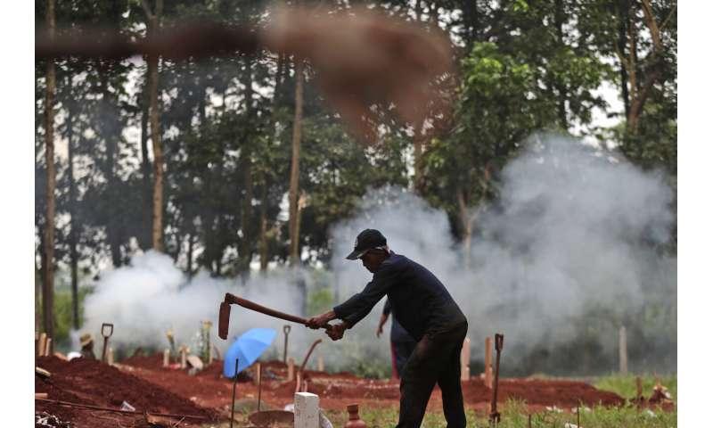 Indonesië meldt 54,000 virusgevallen, wordt Aziatische hotspot