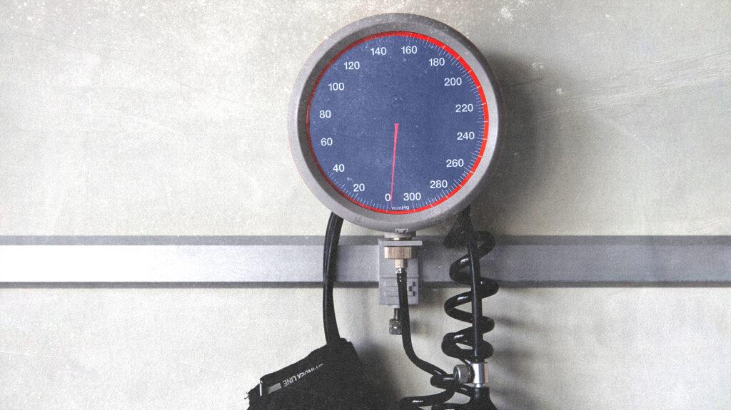 máy đo huyết áp nhìn từ gần